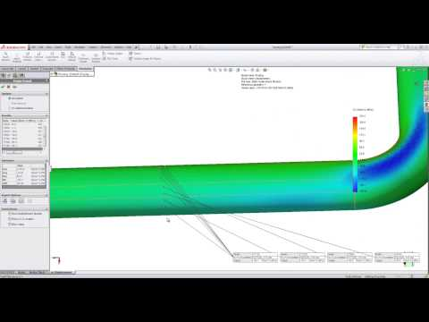 Pipe stress analysis in SolidWorks Simulation
