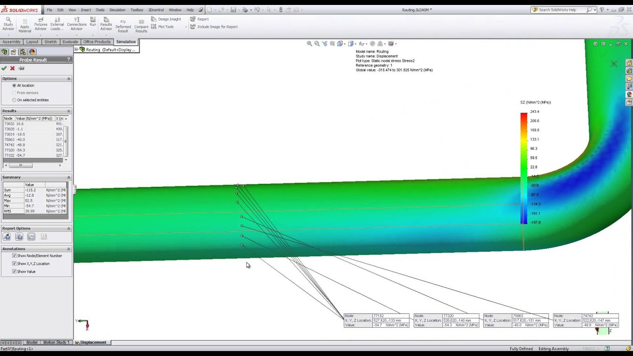 Pipe Stress Analysis In Solidworks Simulation Youtube Piping Layout Design Pictures