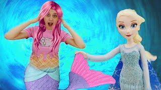 Куклы Холодное сердце нашли дневник Гравити Фолз - Маша стала русалкой! Ох, уж эти куклы