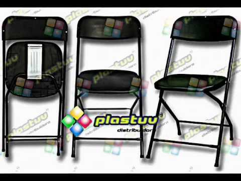 Plastuv sillas y mesas plegables youtube for Sillas y mesas plegables