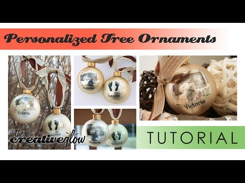 DIY Personalized Christmas Ball Photo Ornament - Great Gift Idea