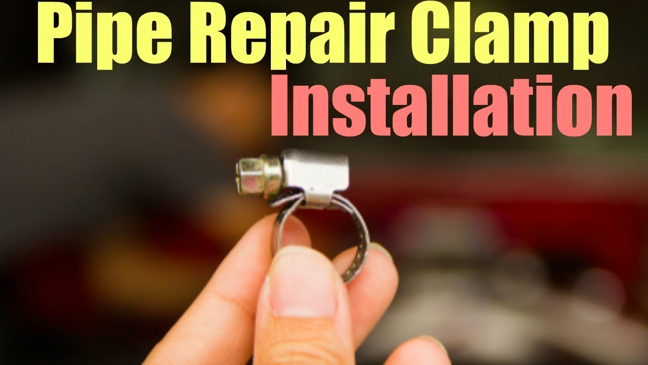 Pipe Repair Clamp Installation Youtube