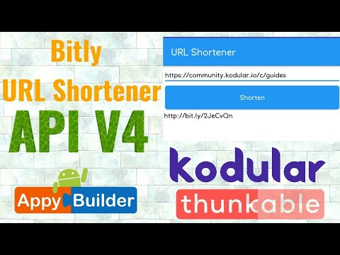 Bitly URL Shortener in Kodular Thunkable App | Bitly API V4