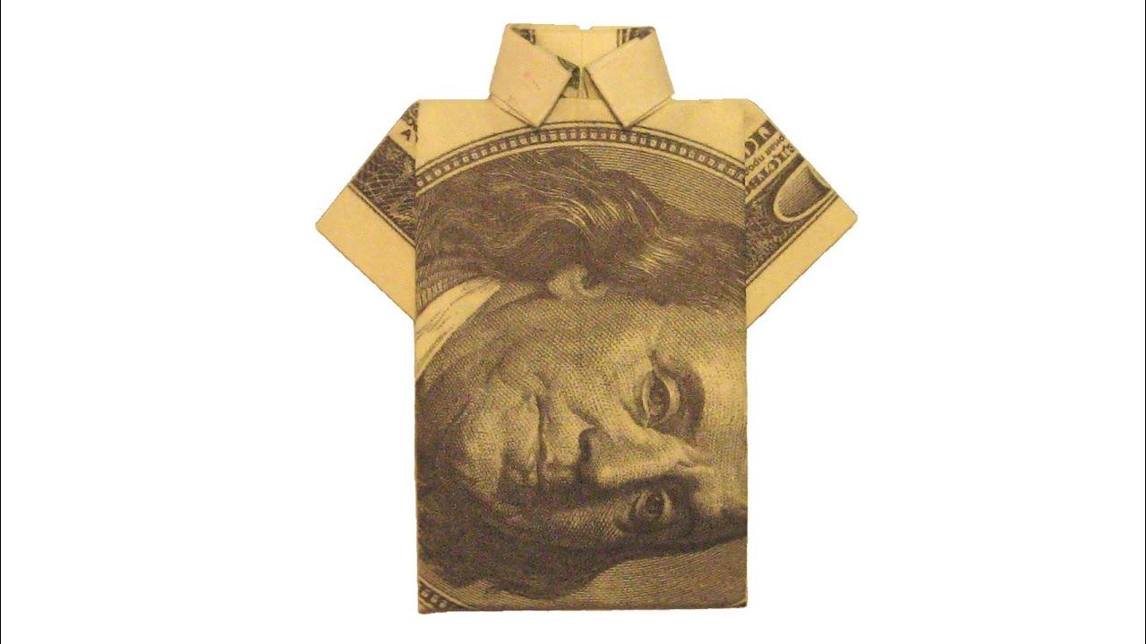 Origami de dinero. Camisa - YouTube