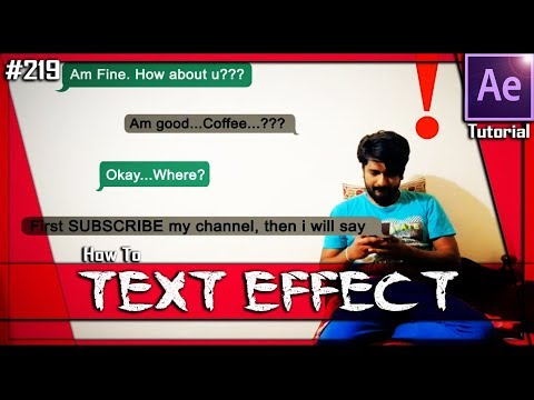Text Message Chat Animation - After Effects Tutorial
