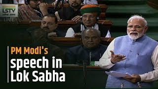 PM Modi's speech in Lok Sabha
