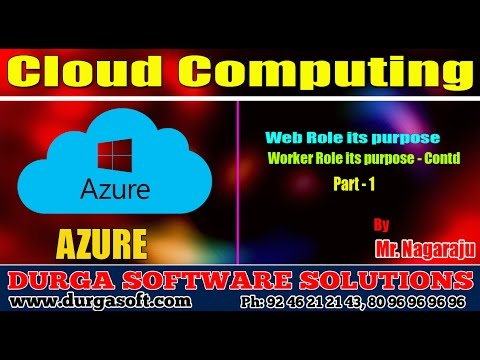 Micro Soft Azure   Web Role its purpose-Worker Role its purpose - Contd Part - 1