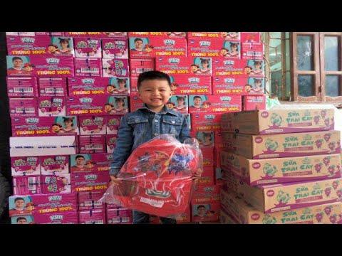 Đổi 24 thẻ sữa kun lấy ba lô kun – Quà Kun – Bạn Pẹt Vlogs