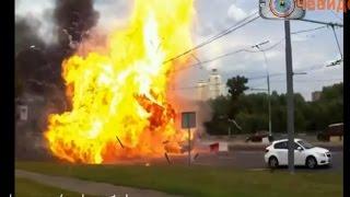 Подборка пожаров на дороге. Автопожары. Аварии и ДТП