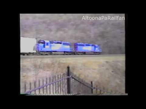 Horseshoe Curve 1995: Conrail Trains vs. Allegheny Mountains