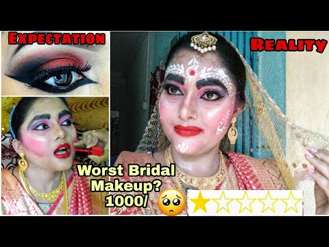 "I WENT TO THE WORST REVIEWD ""BRIDAL"" MAKEUP ARTIST IN INDIA KOLKATA 