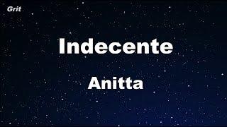 Indecente - Anitta Karaoke 【No Guide Melody】 Instrumental