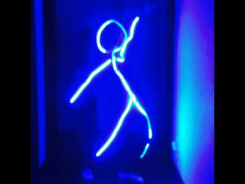 led light stickman halloween costume made with a 5m 3528 smd led strip - Halloween Led Costume