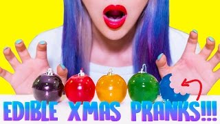 DIY EDIBLE CHRISTMAS PRANKS You Should Try On F...