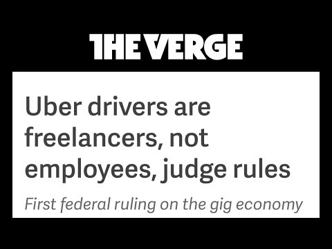 Uber- It's Official..Federal Judge Rules Uber Drivers Are Freelancers (Not Employees)