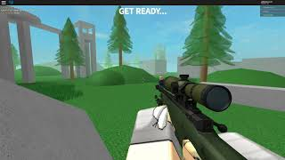 No-scope sniping in roblox!