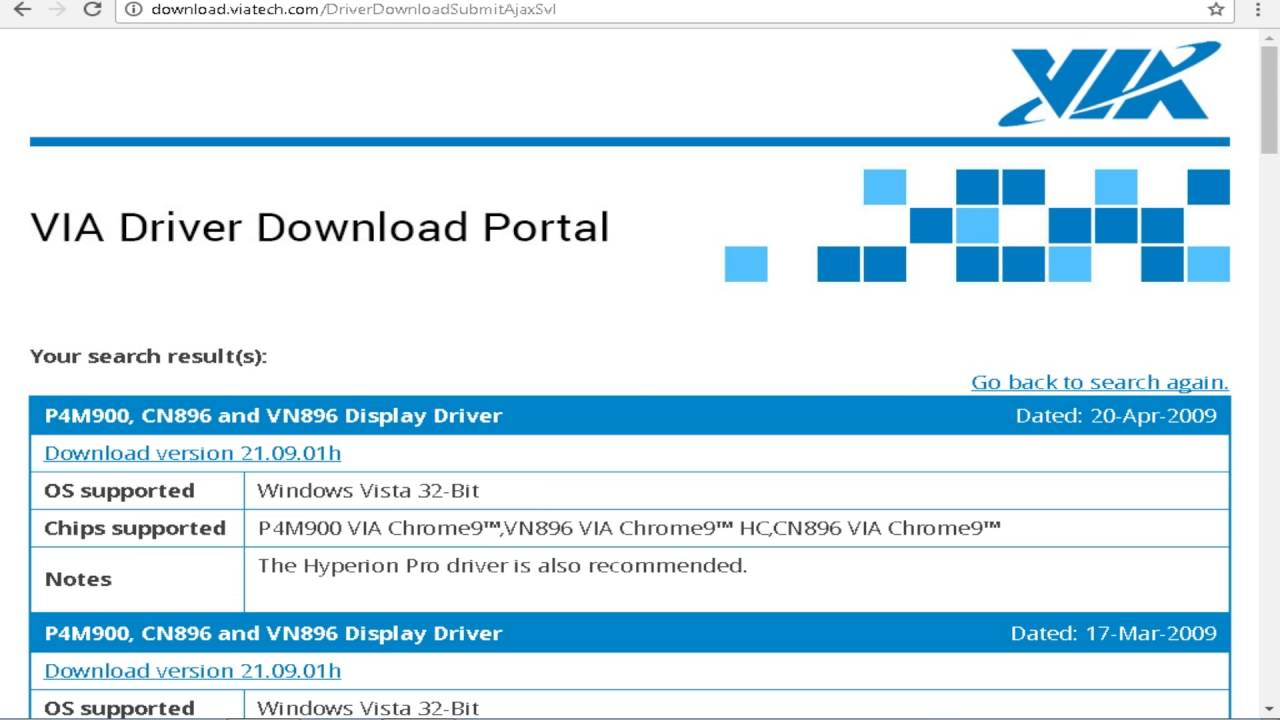VIA CHROME 9 HC IGP DRIVERS FOR WINDOWS