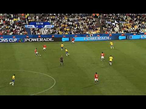 Egypt vs Brazil in FIFA Confederations Cup South Africa 2009