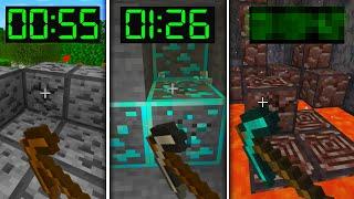 Mining Every Ore in Minecraft Speedrun! (World Record?)