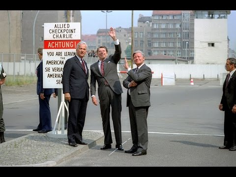 President Reagan at Checkpoint Charlie in West Berlin on June 11, 1982