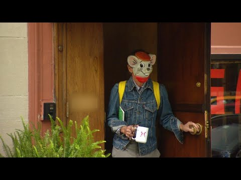 Kate Spade's Husband Makes Bizarre Appearance Wearing Cartoon Mouse Mask