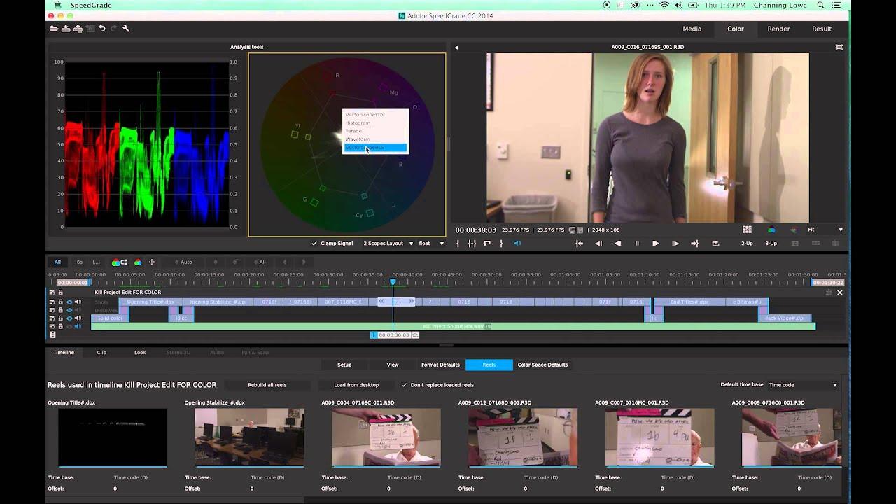 SpeedGrade Full Color Correction Tutorial updated for Adobe 2014 CC