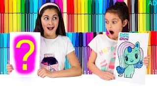3 MARKER CHALLENGE SIS vs SIS! - My Little Pony Cutie Mark Crew Edition!