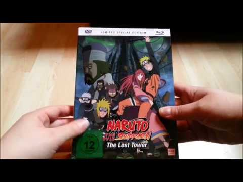 Unboxing Naruto Shippuden Movie 4 - The lost tower [Mediabook] [Limited Edition]