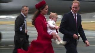 Debutto all'estero per il principe George, in Nuova Zelanda