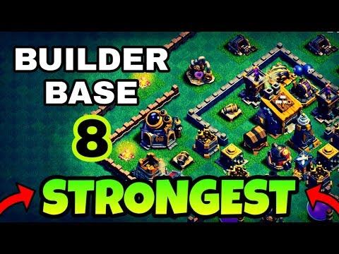 STRONGEST BUILDER BASE 8 LAYOUT W/ REPLAYS | BUILDER HALL 8 BEST BASE DESIGN | CLASH OF CLANS