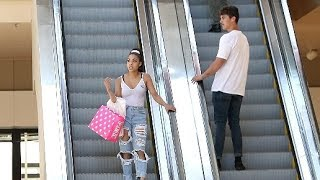STARING AT STRANGERS ON THE ESCALATOR PRANK!!