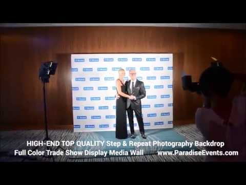 Step and Repeat Banner |Red Carpet Photography Backdrop | Red Carpet Events Black Tie Gala