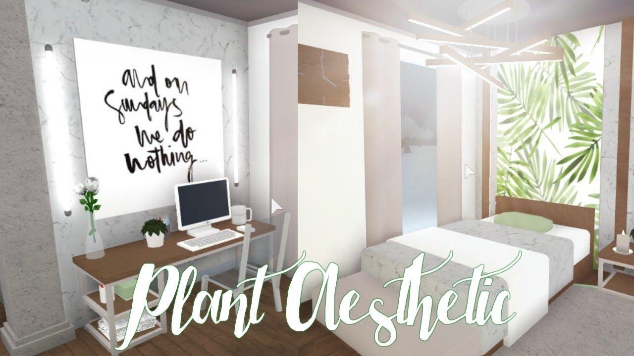 Bloxburg: Plant Aesthetic Bedroom 26K - YouTube