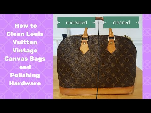 Easy Way to Clean & Protect Louis Vuitton Canvas bags | Polish Hardware