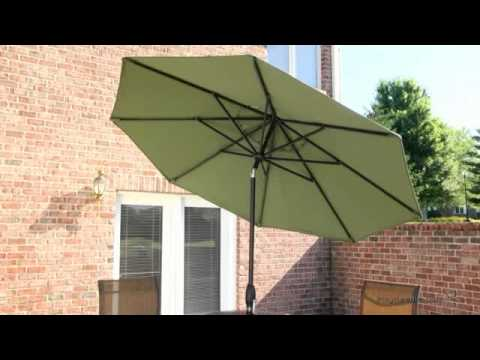 Deluxe Auto Tilt Patio Umbrella   Product Review Video