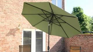 Treasure Garden 9 ft. Deluxe Auto Tilt Patio Umbrella - Product Review Video