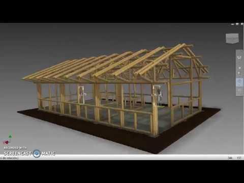Estructura En Guadua Par Y Nudillo 3 Modulos