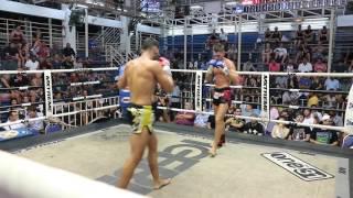 Volkan Demir PhuketTopTeam vs Mike Bull Muay Thai fight 14 June 2017