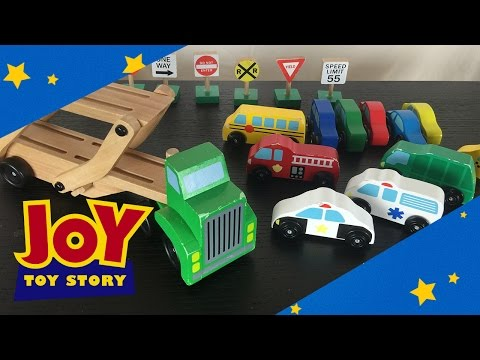 Street Vehicles And Car Carrier - Learn The Names Of Cars For Kids And Trucks With Melissa & Doug