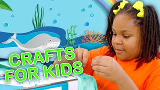 3 Fun DIY Art Class Crafts for Kids!  | Big Fun Crafty Show | Universal Kids