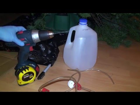 How To Make An Inexpensive External Christmas Tree Watering System Reservoir Diy