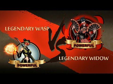 Shadow Fight 2 Legendary Wasp Vs Legendary Widow
