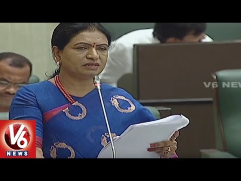 Question Hour : MLA DK Aruna On Budget Allocations To Education Dept.   TS Assembly   V6 News
