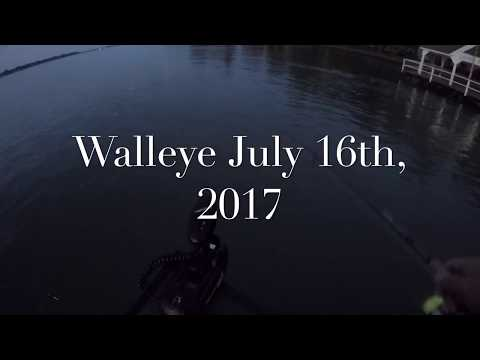 July 2017 Walleye Fishing St. Clair River
