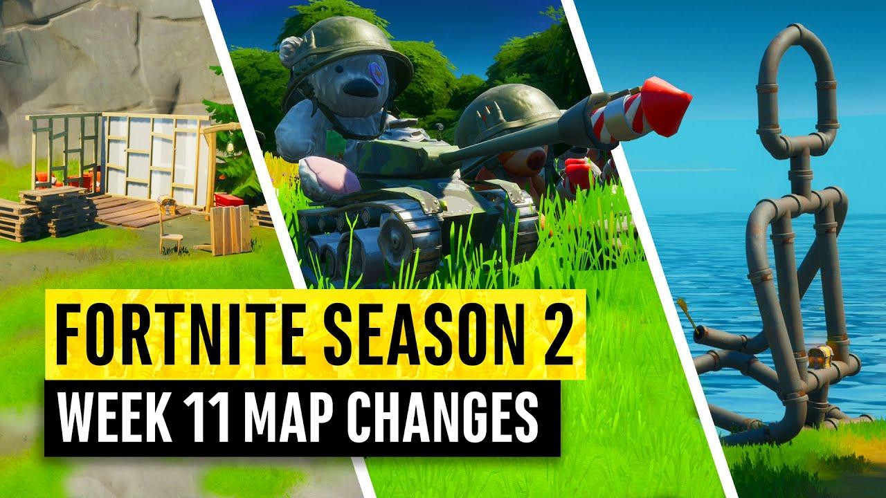 Fortnite | ¡Todas las actualizaciones de mapas de la temporada 2 y secretos ocultos! SEMANA 11 (capítulo 2) + vídeo
