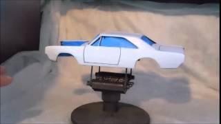 Larry Griffith Super Stock Build - Airbrushing Testors Aztek Acrylic Part 1