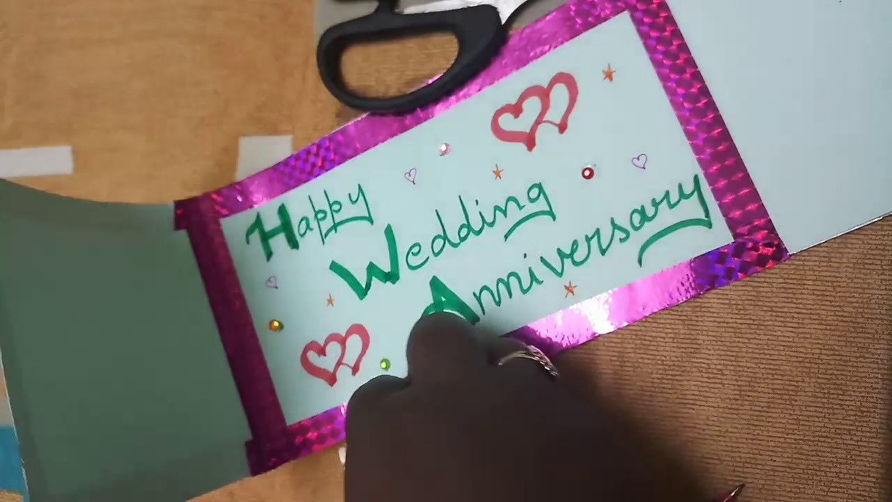 Diy Greeting Cards Wedding Anniversary Card Simple And Easy To Make Youtube Wedding Greeting Cards Wedding Anniversary Cards Greeting Cards Diy