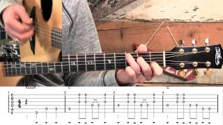 How To Play John Hardy - Bluegrass Flatpicking Guitar Lesson!