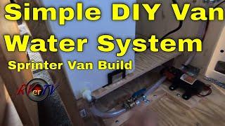 Simple 12 Volt Seaflow Water System - Sprinter Van Build