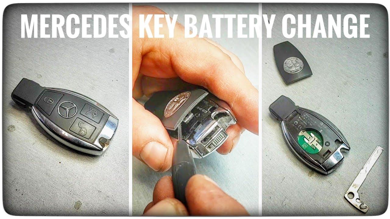 Jak wymienić baterie kluczyka Mercedes E63 AMG ? rybka chrom keyless